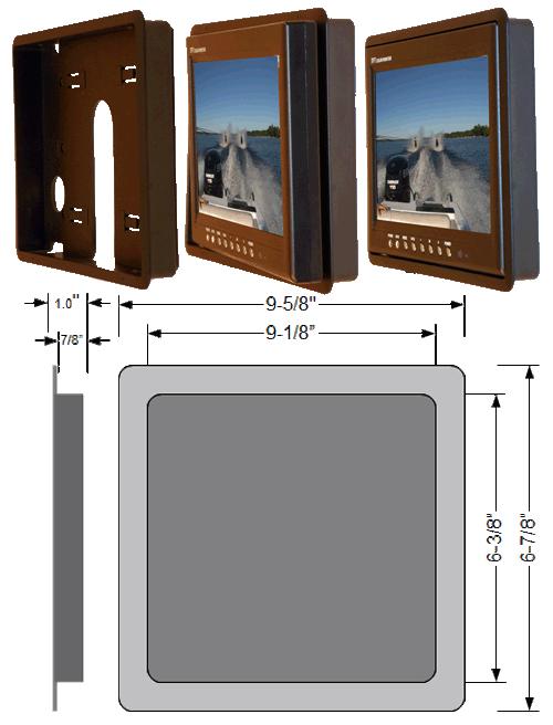 """flush mount bezel lg - 9"""" LCD CCTV Monitor"""