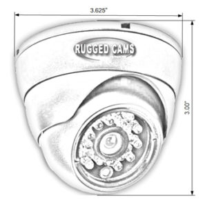 i650 dimensions 297x300 - i700 Indoor Infrared Dome Security Camera